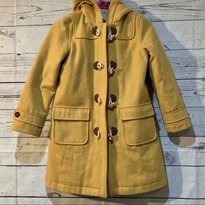 Mini Boden Wool blend Toggle Pea Coat. With hood